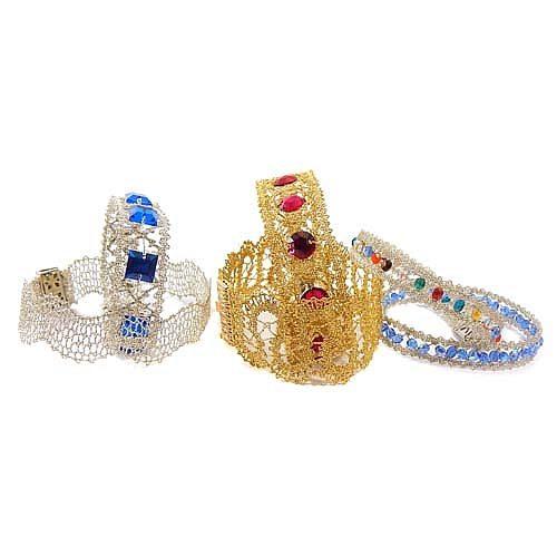 DMC Armband Set, geklöppelte Armbänder.