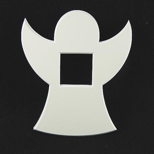 Deko-Passepartout Engel groß in weiss