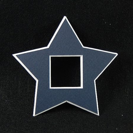 Deko-Passepartout Sterne in blau