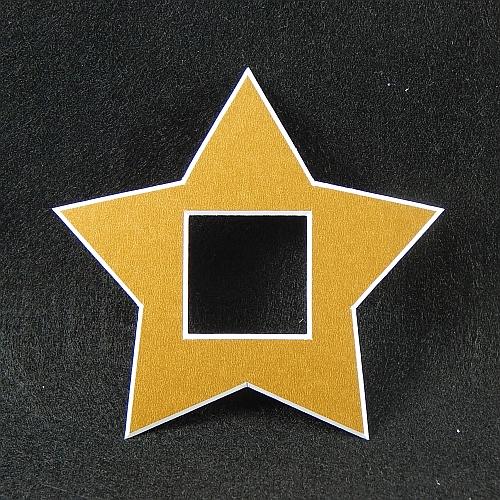 Deko-Passepartout Sterne in gold