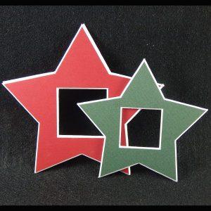 Deko-Passepartout Sterne klein und groß