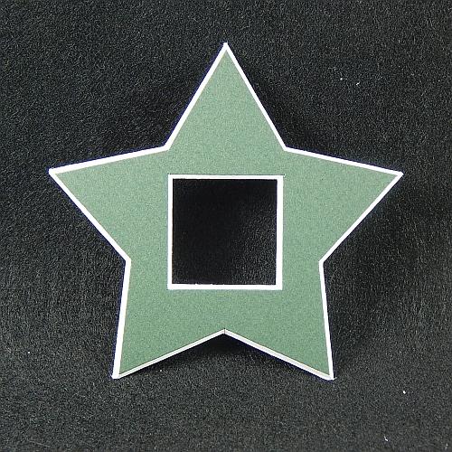 Deko-Passepartout Sterne in grün