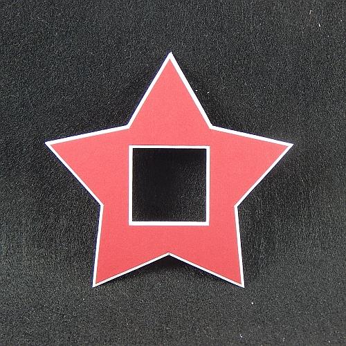 Deko-Passepartout Sterne in rot
