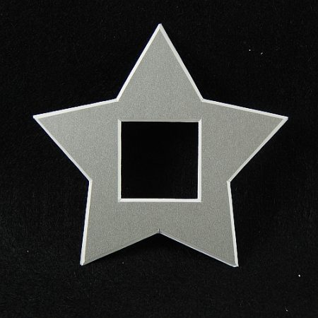 Deko-Passepartout Sterne in silber
