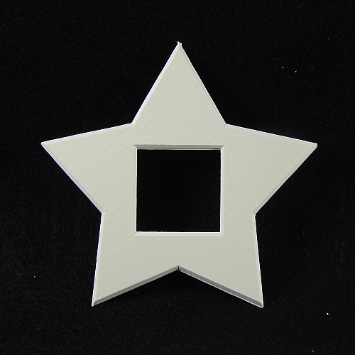 Deko-Passepartout Sterne in weiss