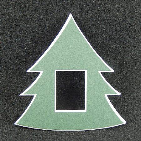 Deko-Passepartout Tanne in grün