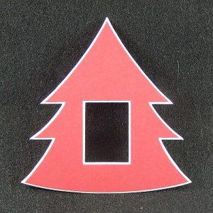 Deko-Passepartout Tanne in rot