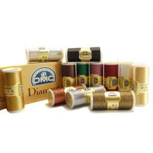 DMC Diamant Metallic Garn 12 Farben, zum klöppeln, sticken und häkeln