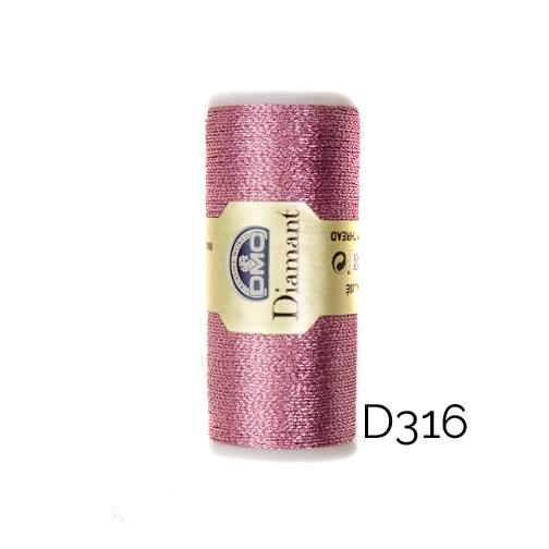 DMC Diamant Metallic Garn Farbe D316, zum klöppeln, sticken und häkeln