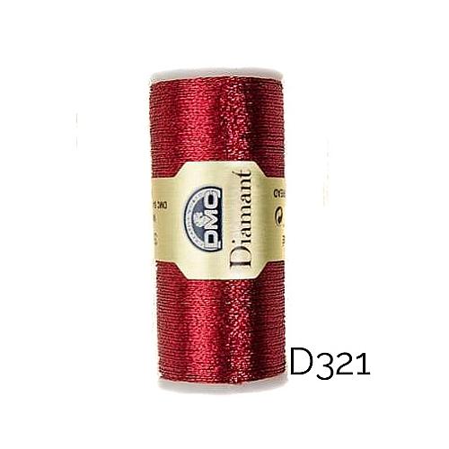 DMC Diamant Metallic Garn Farbe D321, zum klöppeln, sticken und häkeln