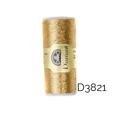 DMC Diamant Metallic Garn Farbe D3821, zum klöppeln, sticken und häkeln