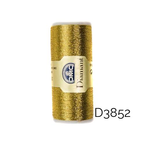 DMC Diamant Metallic Garn Farbe D3852, zum klöppeln, sticken und häkeln