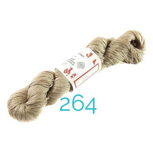 Fresia Seide, 100 % Seide, zum klöpeln, stricken und häkeln in der Farbe 264 grau