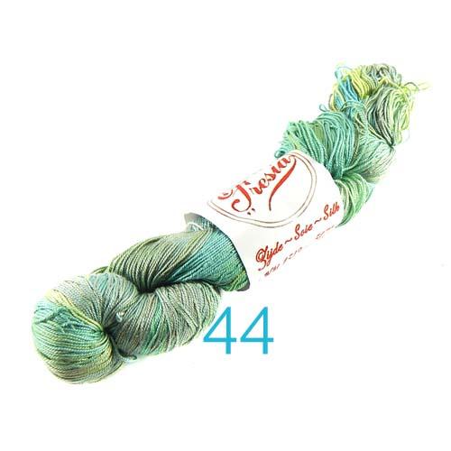 Fresia Seide, 100 % Seide, zum klöpeln, stricken und häkeln in der Farbe 44