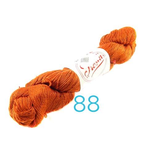 Fresia Seide, 100 % Seide, zum klöpeln, stricken und häkeln in der Farbe 88 rost