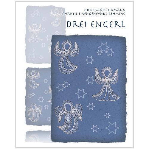 Klöppelbrief 3 Engerl ~ Thumann/Aengenyndt-Lehming, Weihnachten, in der Klöppelwerkstatt, klöppeln, 3 Engerl