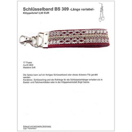Schlüsselanhänger BS 309 Klöppelbrief