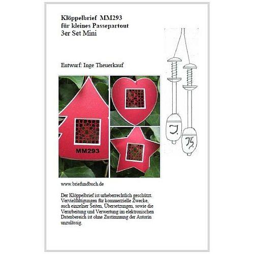 Passepartout 3er Set Mini MM293 Entwurf von Inge Theuerkauf