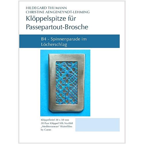B4 Klöppelbriefe für Passepartout-Anhänger SL20