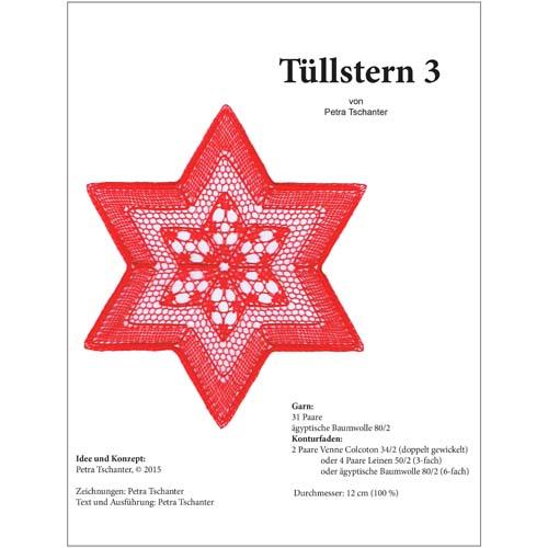 Klöppelbrief Tüllstern 3 von PEtra Tschanter in der Klöppelwerkstatt erhältlich