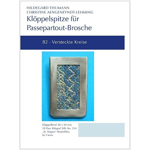 B2 Klöppelbriefe für Passepartout-Anhänger SL20