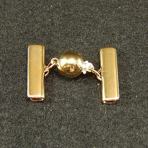 Kugelschliesse 13550 2cm vergoldet