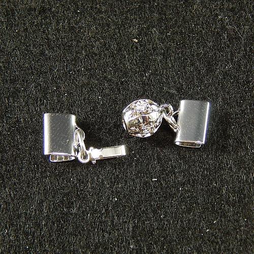 Kugelschliesse 13835 rhodiniert 0,8 cm