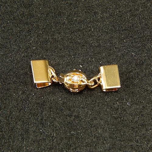 Kugelschliesse 13835 vergoldet 8mm