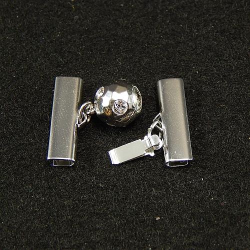 Kugelschliesse 14375 rhodiniert 2,0 cm