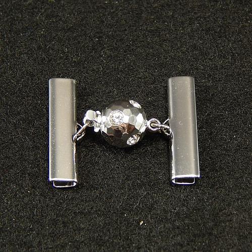 Kugelschliesse 14375 rhodiniert 2,5 cm