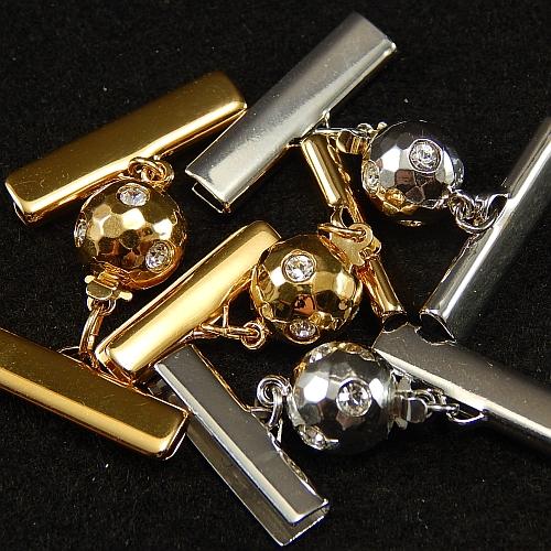 Kugelschliesse 14375 rhodiniert und vergoldet
