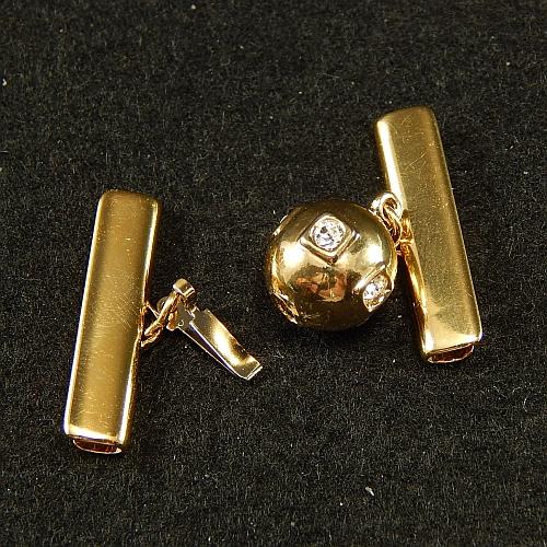 Kugelschliesse 14690 geeöffnet, vergoldet 2,0 cm