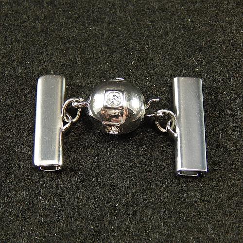 Kugelschliesse 14690 rhodiniert 2,0 cm