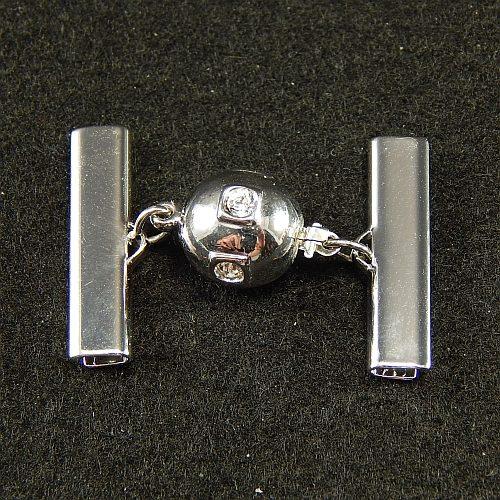 Kugelschliesse 14690 rhodiniert 2,5 cm