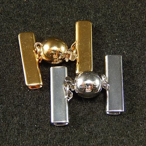 Kugelschliesse 13550 2cm rhodiniert und vergoldet