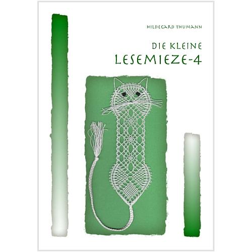Die kleine Lesemieze 4, Klöppelbrief von Hildegard Thumann in der Klöppelwerkstatt