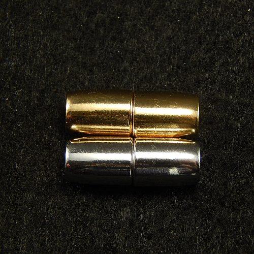 Magnetverschlüsse 14867 rodiniert und vergoldet, 4mm