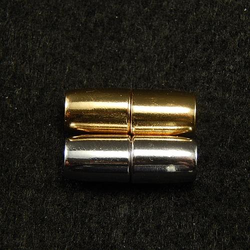 Magnetverschlüsse 14867 rodiniert und vergoldet, 4mm, in der Klöppelwerkstatt, Schmuck, klöppeln, Schließe, Verschluß
