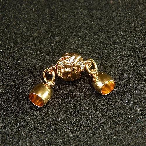 Magnetverschluss mit Endkappe vergoldet 5mm