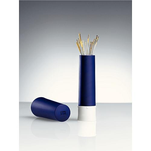 Prym Nadeltwister, zum Aufbewahren von Stecknadeln oder Nähnadeln in blau, in der Klöppelwerkstatt erhältlich