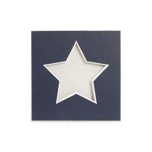 Passepartout 1 Ausschnitt Stern nachtblau Rückseite geschlossen