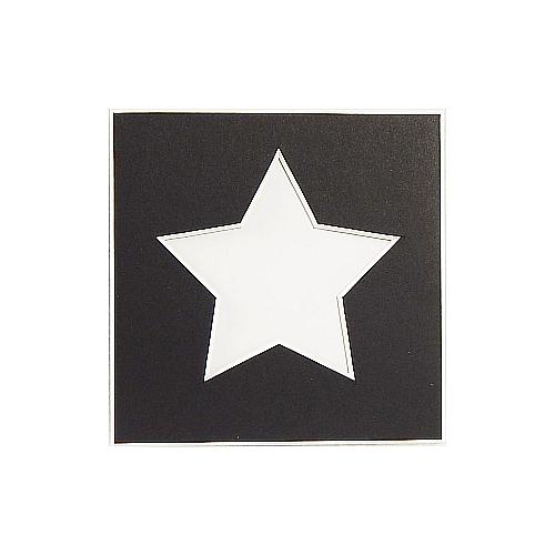 Passepartout 1 Ausschnitt Stern schwarz Rückseite geschlossen