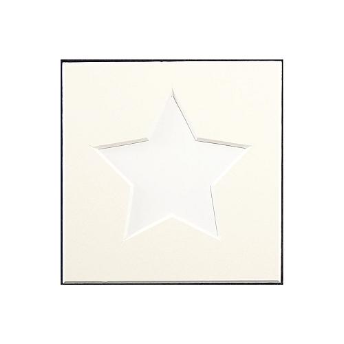 Passepartout 1 Ausschnitt Stern weiss Rückseite geschlossen