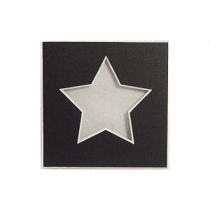 Passepartout 1 Ausschnitt Stern schwarz Rückseite offen