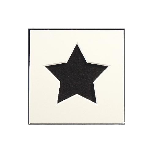 Passepartout 1 Ausschnitt Stern weiss Rückseite offen