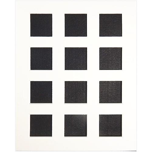 Passepartout 12 Ausschnitte in Weiß, Rückseite offen