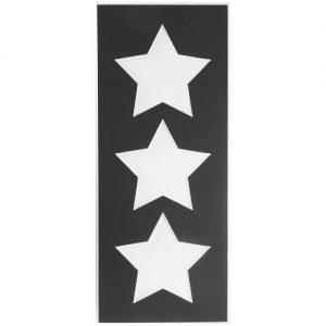 Passepartout 3 Ausschnitte Sterne schwarz Rückseite geschlossen