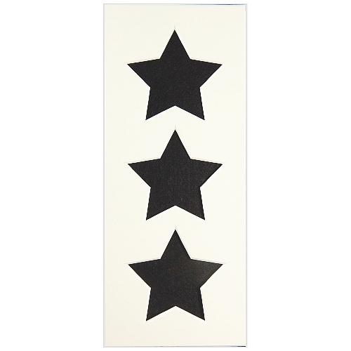Passepartout 3 Ausschnitte Sterne weiß Rückseite offen