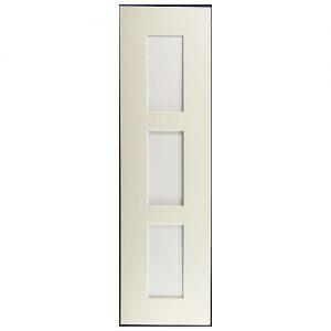 Passepartout 3 Ausschnitte 40 cm x 11 cm, weiß, Rückwand geschlossen