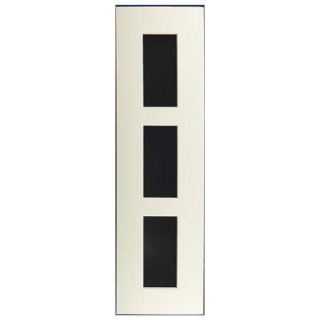 Passepartout 3 Ausschnitte 40 cm x 11 cm, weiß, Rückwand offen